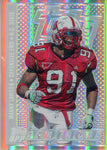 Manny Lawson Unsigned 2007 Topps DPP Refractor Rookie Card