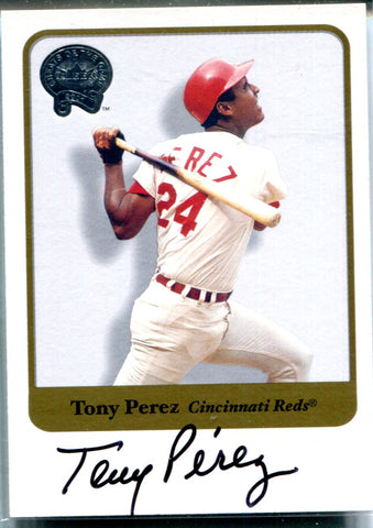 Tony Perez 2001 Fleer Autographed Card