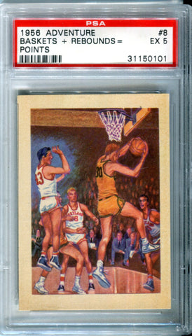 1956 Adventure Baskets+ Rebounds = Points Card PSA 5 (EX)
