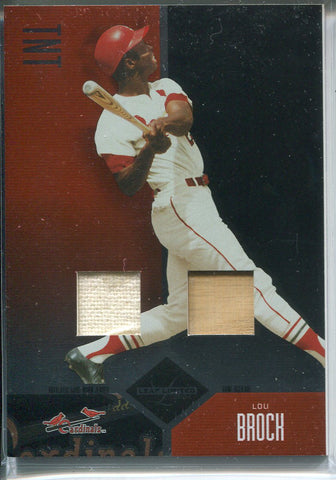 Lou Brock 2004 Leaf Limited Bat & Jersey Card