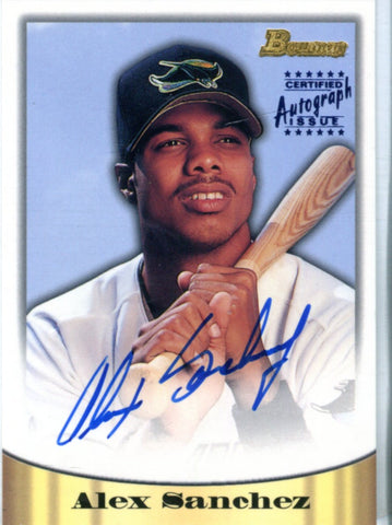 Alex Sanchez 1998 Topps Autographed Card