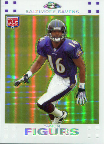 Yamon Figurs Unsigned 2007 Topps Chrome Refractor Rookie Card