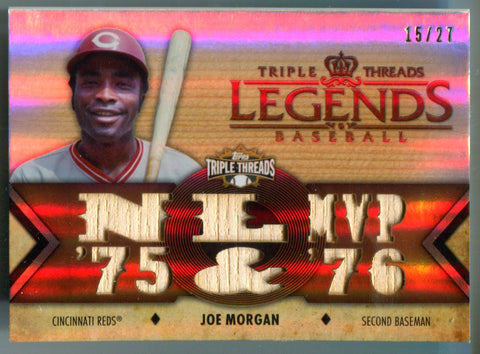 Joe Morgan 2012 Triple Threads Game-Used Bat Unsigned Card #15/27