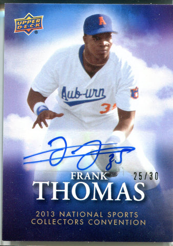 Frank Thomas 2013 Upper Deck Autographed Card #25/30