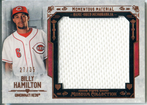 Billy Hamilton 2015 Game-Used Memorabilia Patch Card #27/35