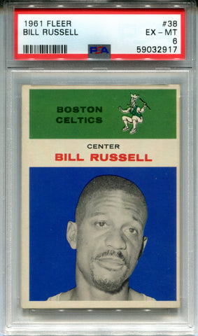 Bill Russell 1961 Fleer Card #38 (PSA)