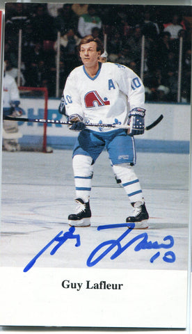 Guy Lafleur Autographed Post Card