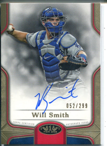 Will Smith Autographed 2020 Topps Tier One Break Out Card 52/299