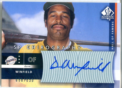 Dave Winfield 2003 Upper Deck SP Chirography Autographed Card #66/350