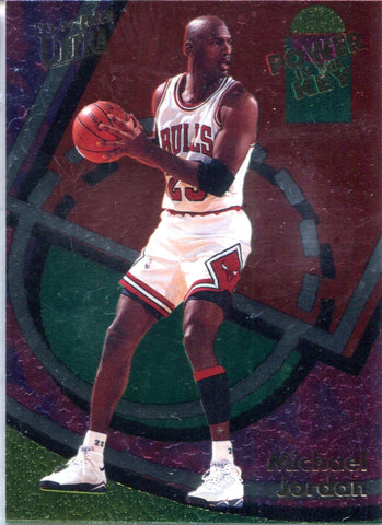 Michael Jordan 1993-94 Fleer Ultra Power in The Key Unsigned Card