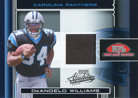 DeAngelo Williams Unsigned 2006 Playoff Absolute Memorabilia Rookie Jersey Card