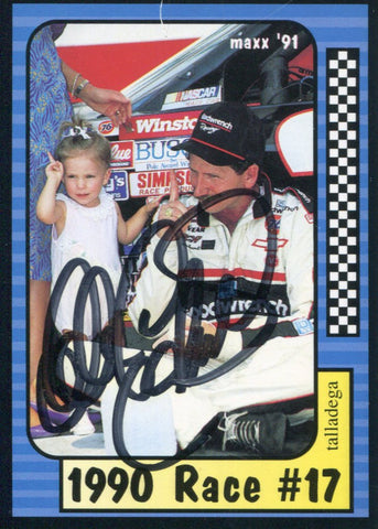 Dale Earnhardt Autographed / Signed 1991 Maxx No.187 of 240 Racing Card