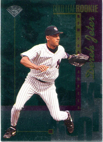 Derek Jeter 1996 Gold Leaf Rookie Unsigned Card