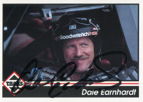 Dale Earnhardt Autographed / Signed 1992 Traks No.103 Racing Card