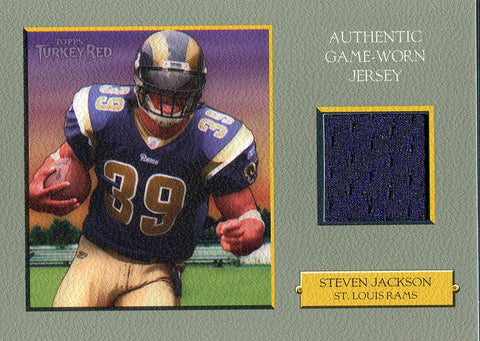 Steven Jackson Unsigned 2006 Topps Turkey Red Jersey Card