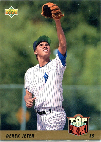 Derek Jeter 1993 Upper Deck Unsigned Top Prospects Card