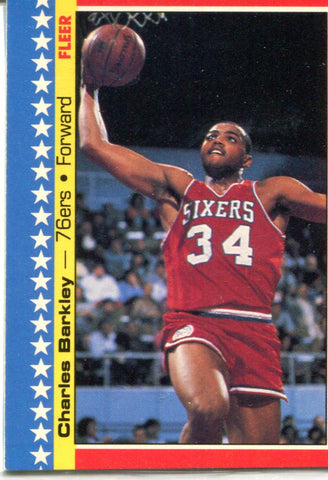 Charles Barkley 1987 Fleer Unsigned Card