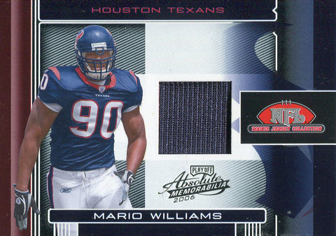 Mario Willims Unsigned 2006 Playoof Absolute Memorabilia Rookie Jersey Card