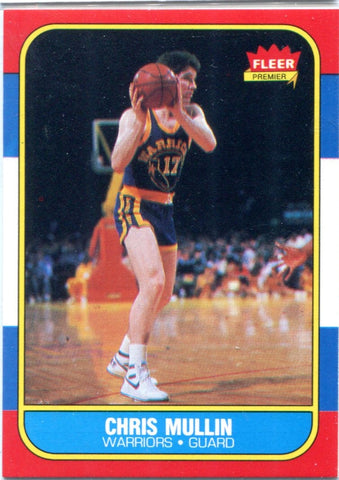 Chris Mullin 1986 Fleer Premier Unsigned Card