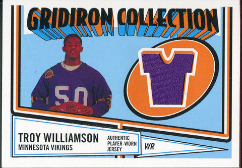 Troy Williamson Unsigned 2006 Topps Jersey Card