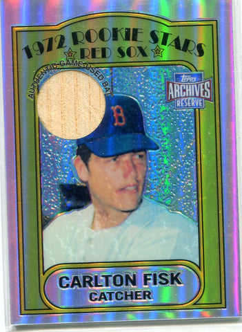 Carlton Fisk 2001 Topps Archives Reserve Game-Used Bat Card