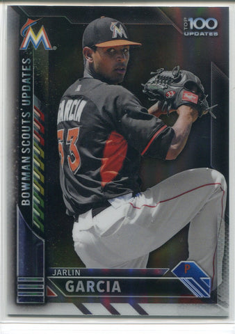 Jarlin Garcia 2016 Bowman Chrome Scout's Update Refractor Rookie Card