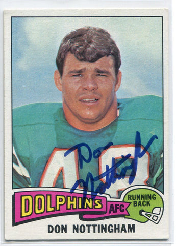 Don Nottingham Autographed 1975 Topps Card