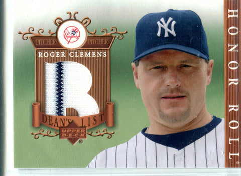 Roger Clemens 2003 Upper Deck Game-Worn Jersey Card
