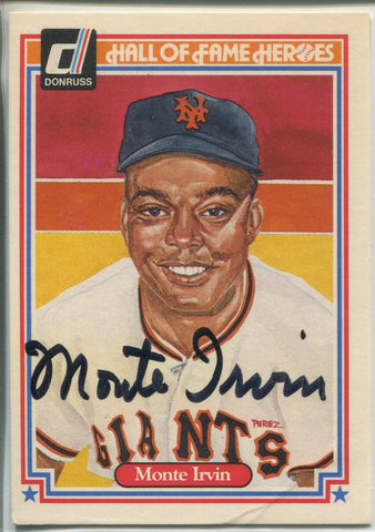 Monte Irvin Autographed 1983 Donruss Hall of Fame Heroes Card #15