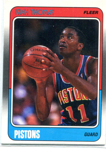 Isiah Thomas 1988 Fleer Unsigned Card