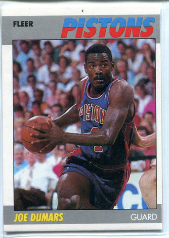 Joe Dumars 1987 Fleer Unsigned Card