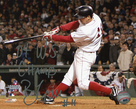 "Bill Mueller ""04 WS Champs"" Autographed Boston Red Sox ALCS 8x10 Photo"