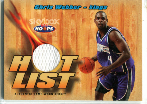 Chris Webber 2004-05 Fleer Game-Worn Jersey Card