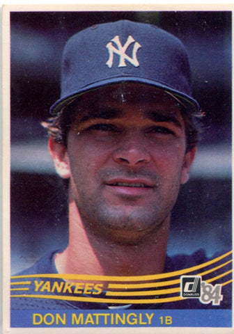 Don Mattingly 1983-84 Donruss Unsigned Rookie Card
