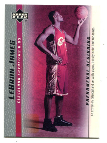 Lebron James 2003-04 Upper Deck Phenomenal Beginning #1 Card