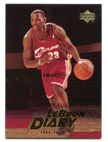 Lebron James 2003-04 Upper Deck Lebron`s Diary #LJ14 Card