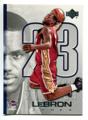 Lebron James 2003-04 Upper Deck Rookie Of The Year #LJ17 Card