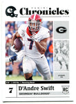 D'Andre Swift 2020 Panini Chronicles Draft Picks Rookie Card