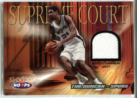 Tim Duncan 2004 Fleer Game-Worn Jersey Card