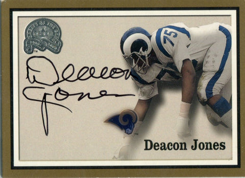 Deacon Jones 2000 Fleer Autographed Card