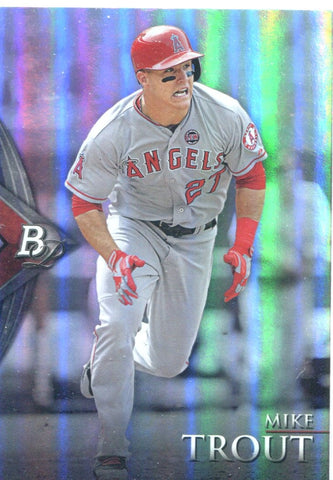 Mike Trout 2014 Bowman Platinum Unsigned Card