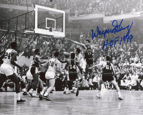 "Wayne Embry ""HOF 99"" Autographed Cincinnati Royals 8x10 Photo"