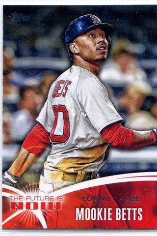 Mookie Betts 2014 Topps The Future is Now Unsigned Card