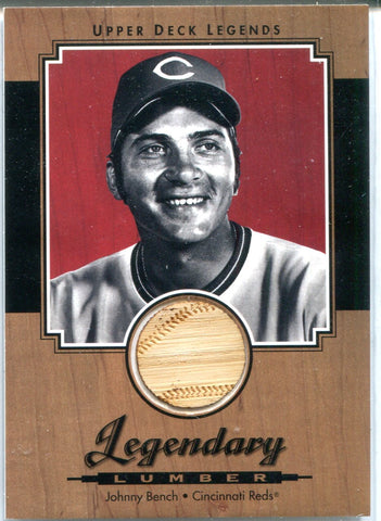 Johnny Bench 2001 Upper Deck Legendary Lumber Relic Card