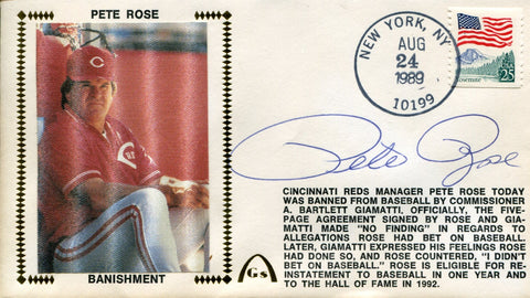 Pete Rose Autographed Banishment First Day Cover
