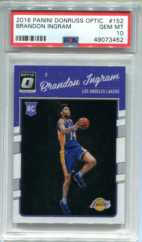 Brandon Ingram 2016-17 Panini Donruss Optic Rookie Card (PSA)