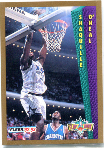 Shaquille O'Neil 1993 Fleer Unsigned Card