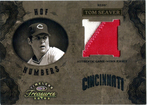 Tom Seaver 2003 Donruss Timeless Treasures Game-Worn Jersey/Unsigned Card #2/35