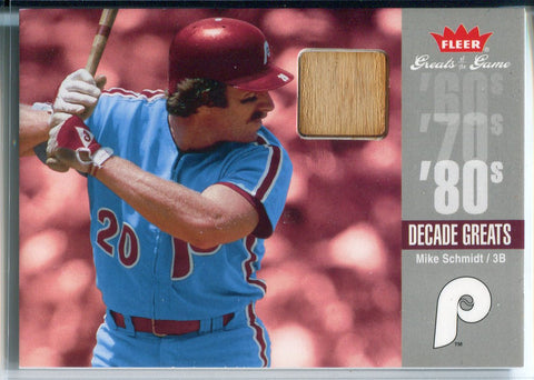 Mike Schmidt 2006 Fleer Greats of the Game Game Used Bat Card