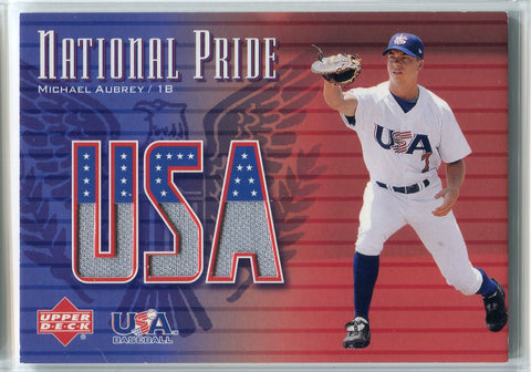 Michael Aubrey 2003 Upper Deck National Pride USA Game Used Relic Card